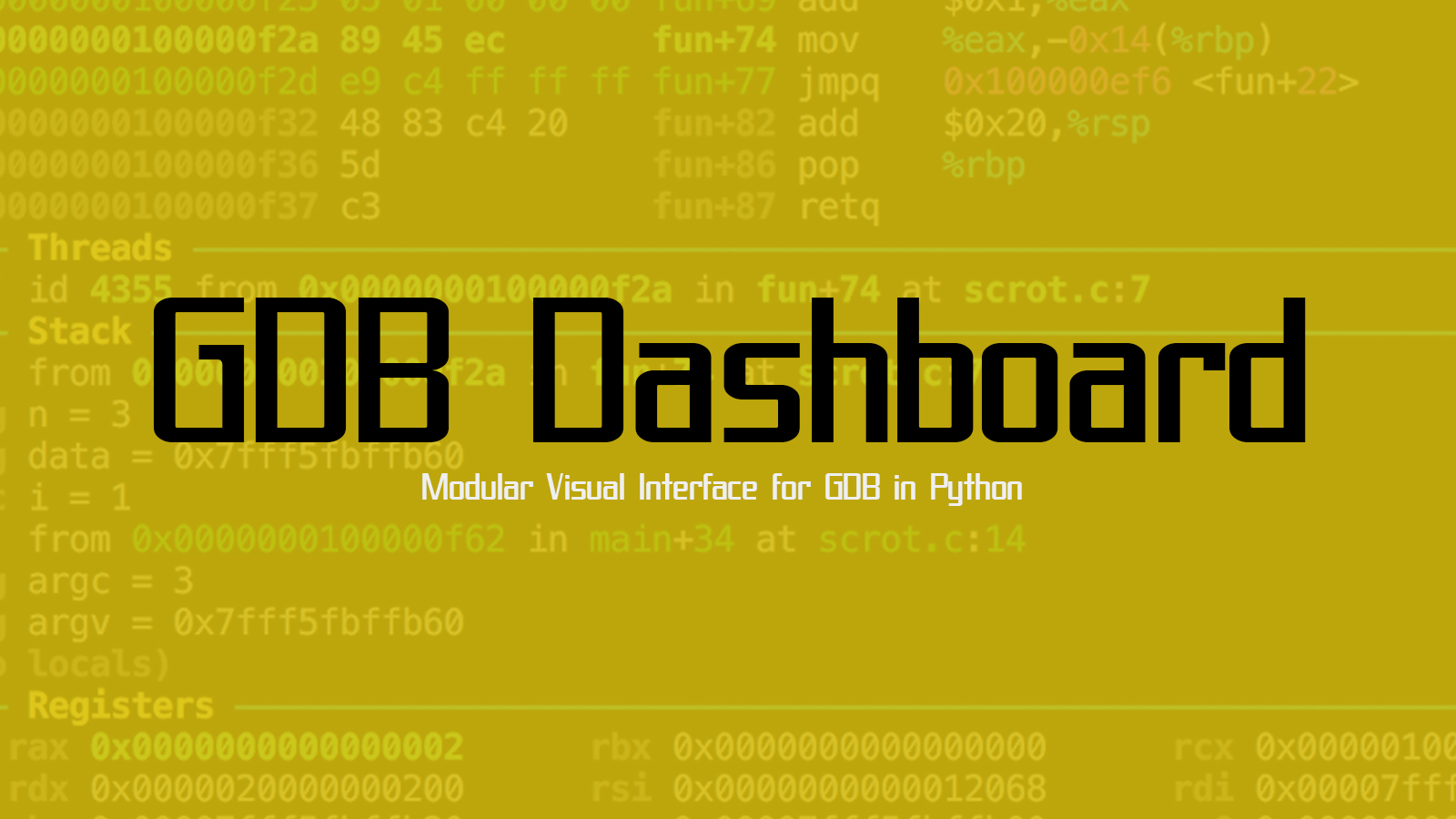 GDB Dashboard - Modular Visual Interface for GDB in Python