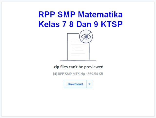 RPP SMP Matematika Kelas 7 8 Dan 9 KTSP