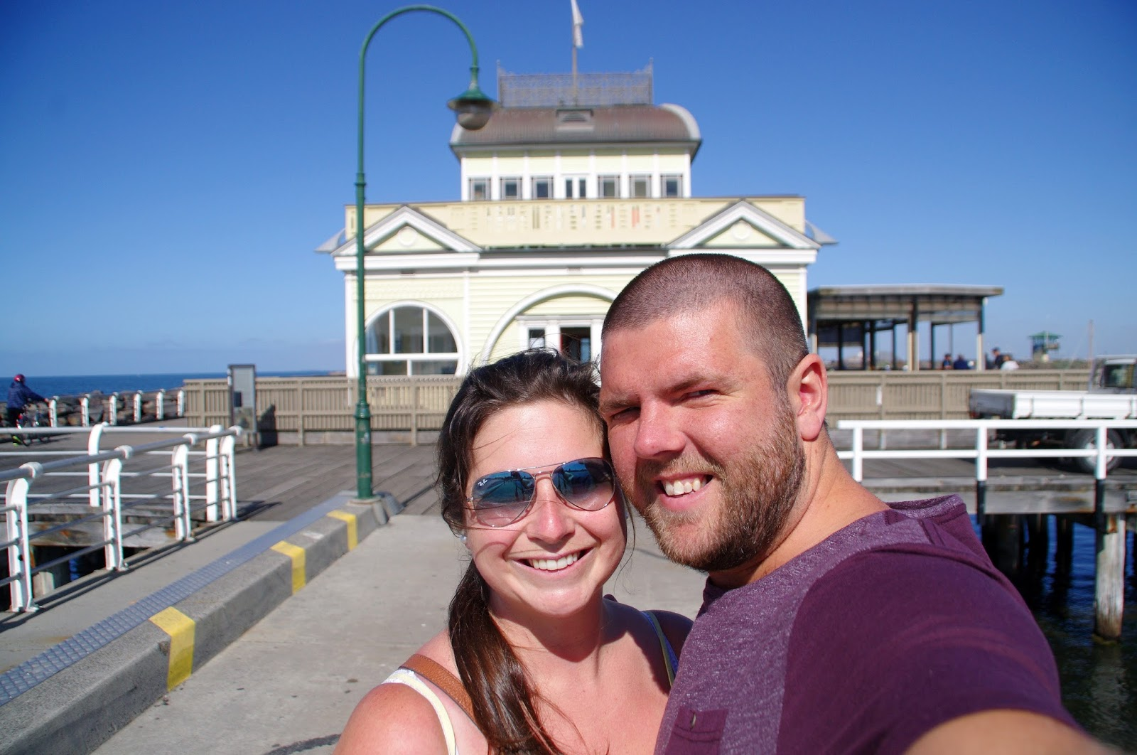Couple at Pavillion on St Kilda Pier Melbourne