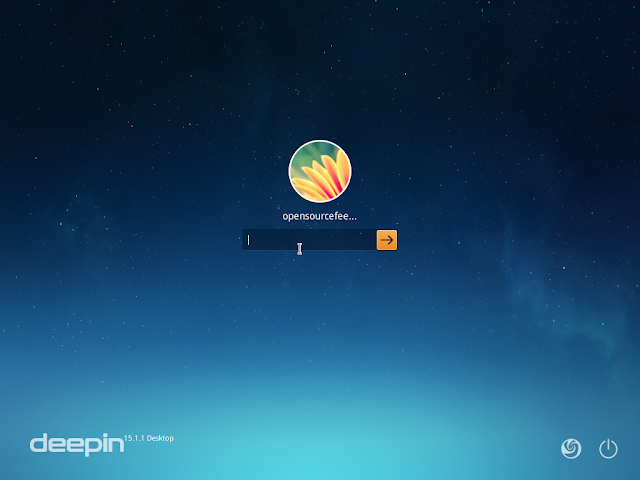 deepin login window