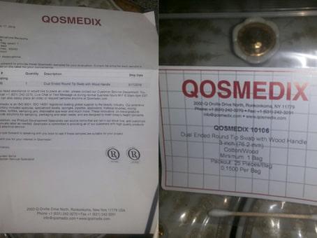 اثبات وصول أدوات تجميل وكتالوج رائع عن شركة qosmedix