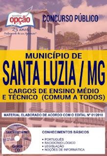 Apostila Prefeitura Santa Luzia 2018 PDF Download e Impressa