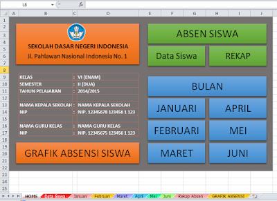 Daftar Hadir Siswa Dengan Grafik Bulanan
