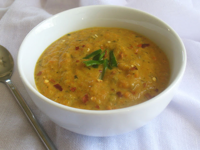 Thai inspired roasted carrot soup