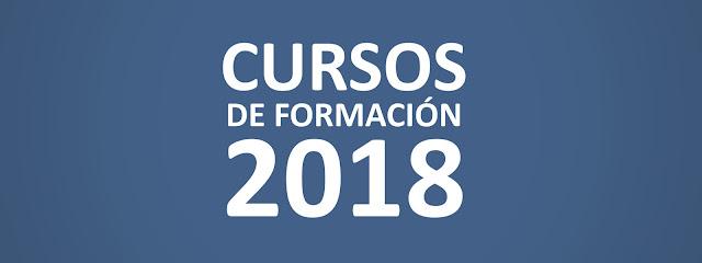"""Imagen con la leyenda """"Cursos de Formación 2018"""""""