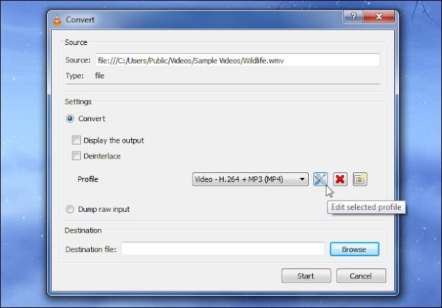 VLC-Koversi File media