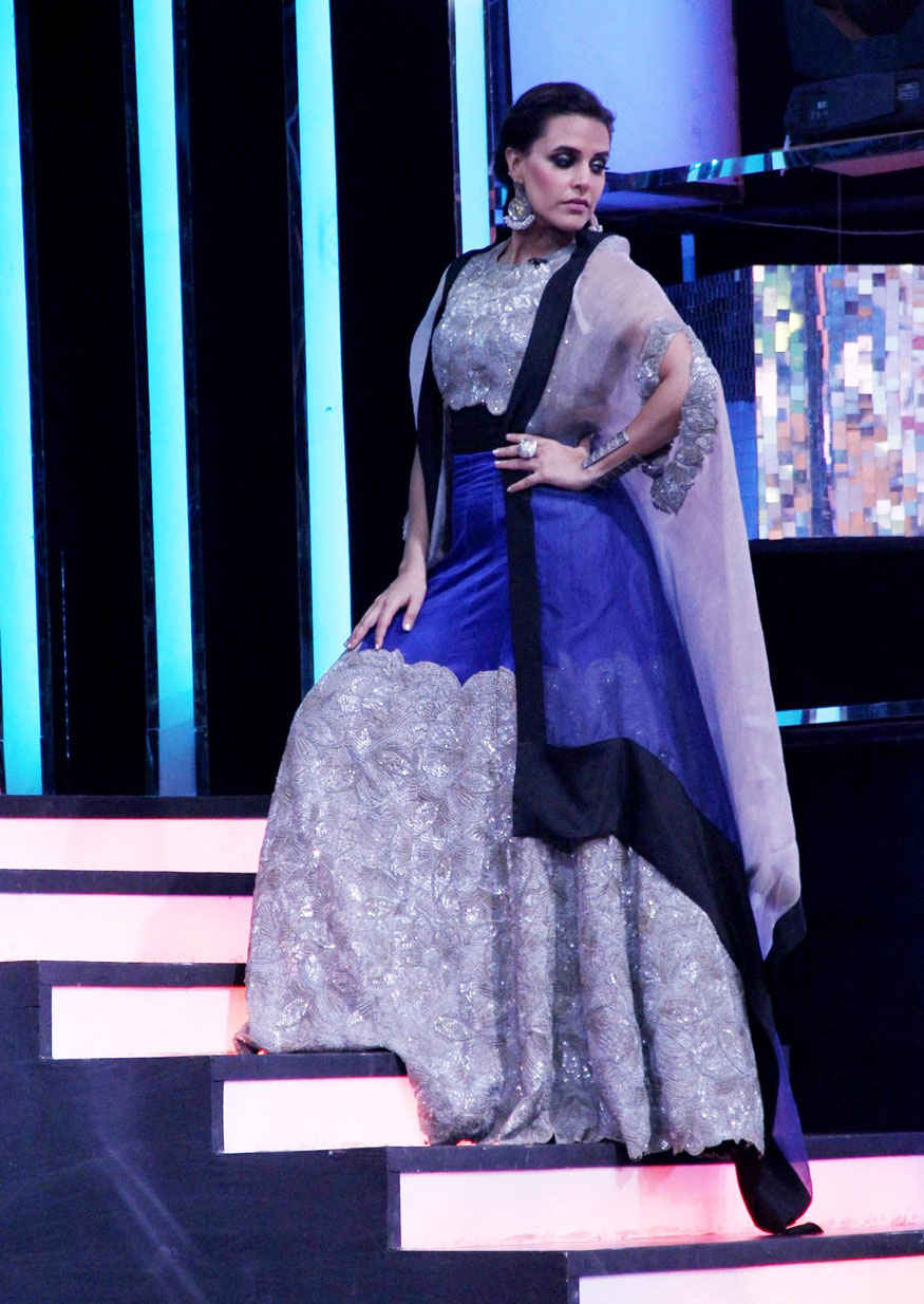 Neha Dhupia and Sohail Khan on the Grand Finale of Colors Chhote Miyan Dhaakad