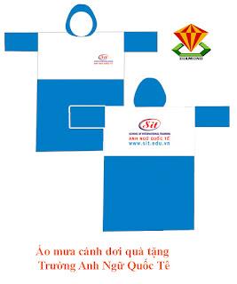áo mưa cánh dơi quà tặng in logo công ty