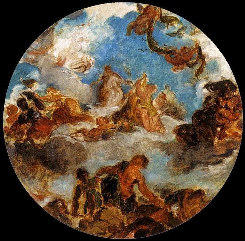 A Paz Descendo sobre a Terra - Delacroix, Eugène e suas principais pinturas ~ Romantismo francês