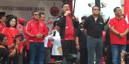 Hadiri Kampanye Terbuka PDIP, Tjahjo Minta Kader Menangkan Jokowi
