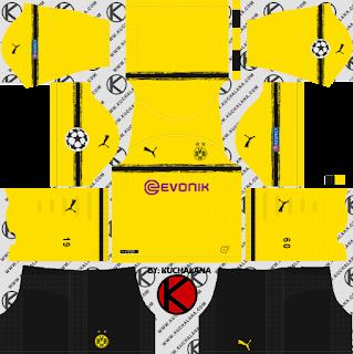 borussia-dortmund-kits-2018-2019-dream-league-soccer-%2528UEFA-Champions-League-Kit%2529-black-sock