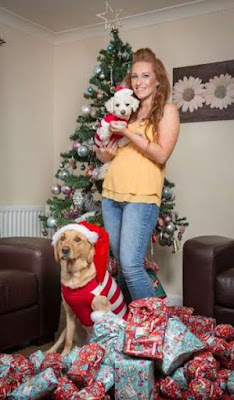A Woman Spent Over N600,000 On Christmas Presents For Her Dogs
