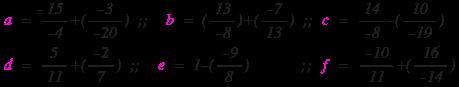 الأعداد الجذرية : سلسلة تمارين وحلول حول الجمع و الطرح