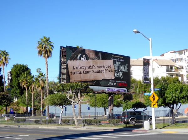 Netflix Unfortunate Events Sunset Blvd billboard