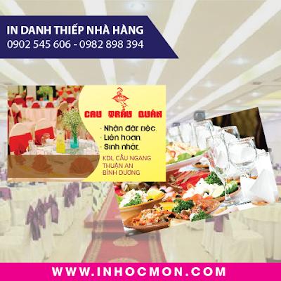 danh thiếp nhà hàng Cau Trầu Quán Thuận An Bình Dương