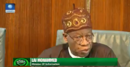 Watch Lai Mohammed explain President Buhari's absence from the Federal Executive Council meeting