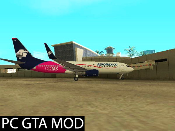 Free Download  Boeing 737-800 Aeromexico Con Letras De CDMX  Mod for GTA San Andreas.