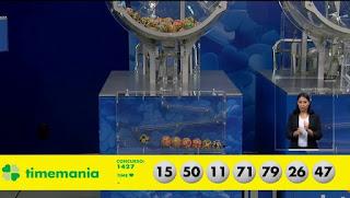 Resultado da Timemania - Concurso nº 1427 - 03/01/2020