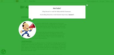CSS animasyon ile duyuru buton popup