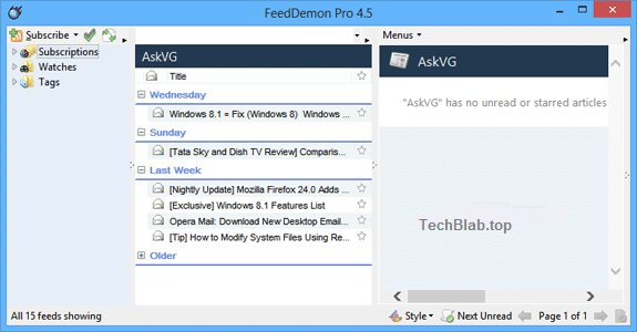 Download FeedDemon 4.5 Pro Version for Free