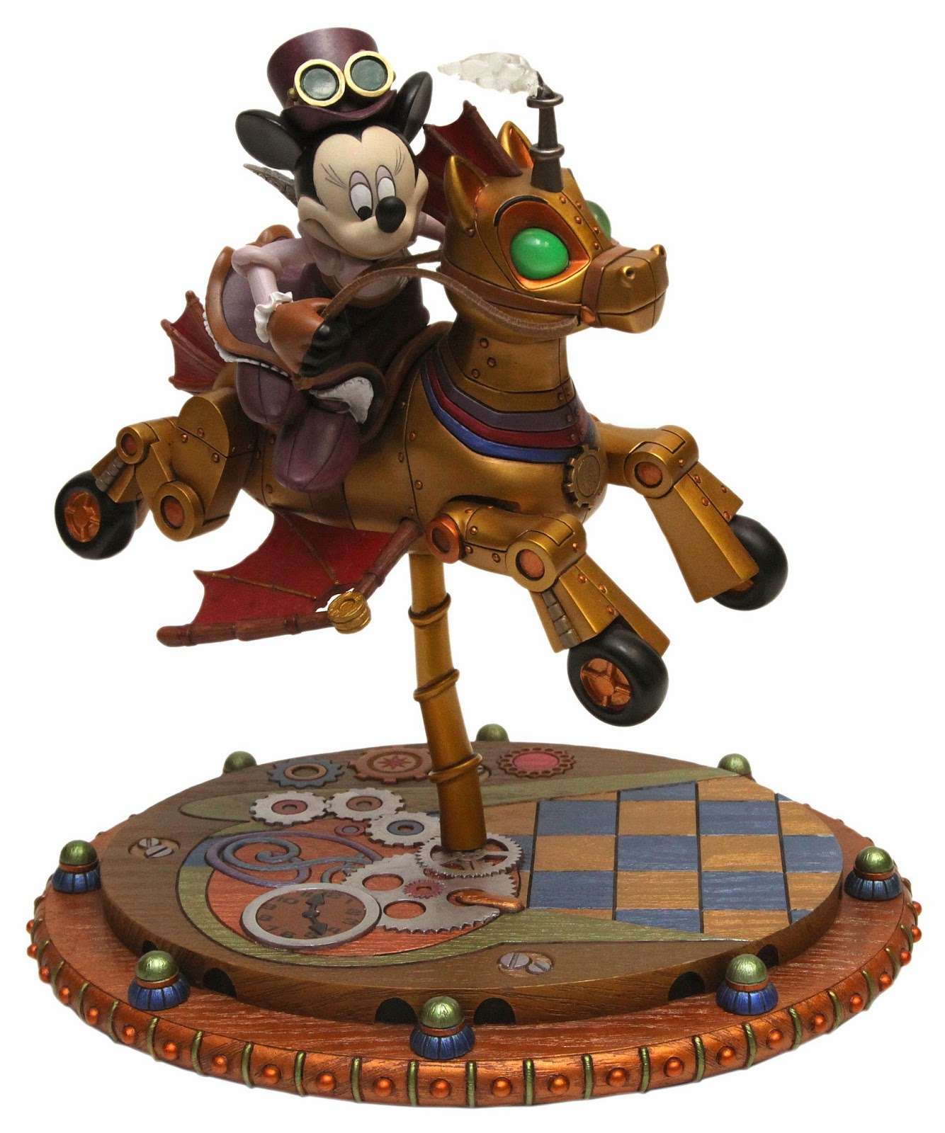 Minnie Mouse Mechanical Kingdom Gears Figure Figurine Statues Carousel Horse Steamunk Walt Disney World WDW Disneyland