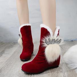 Hidden Elevator Heel Women's Snow Boots
