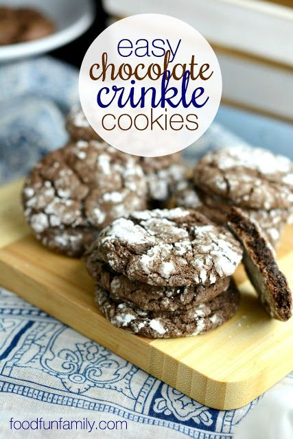 Easy chocolate crinkle cookie recipe
