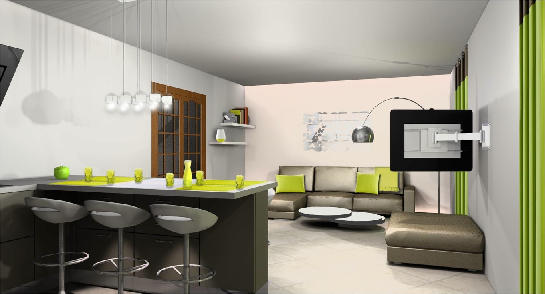 Conception de la Maison Moderne: Idée cuisine ouverte