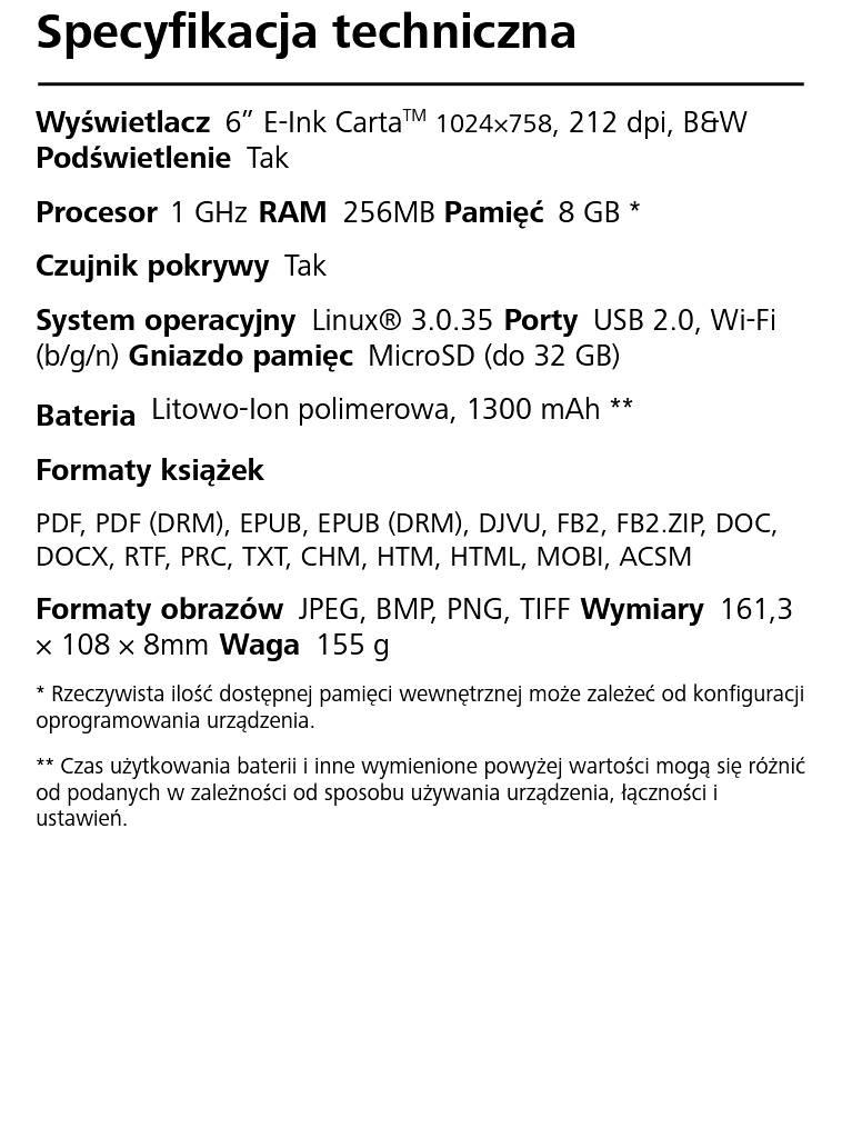 PocketBook Basic Lux 2 – fragment instrukcji w PDF w trybie reflow