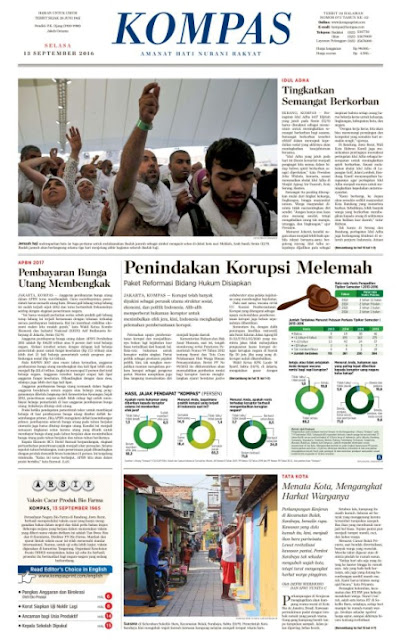Kompas Edisi Selasa 13 September 2016