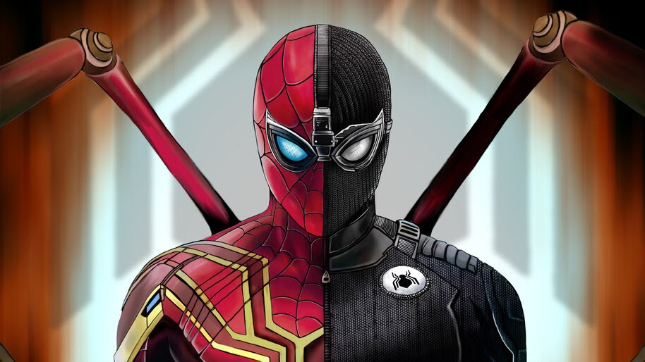 Spider Man Far From Home Iron Spider Stealth Suit 4k