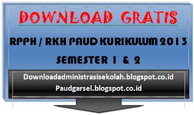 RKH PAUD Kurikulum 2013 Semester 1 Minggu Ke 15