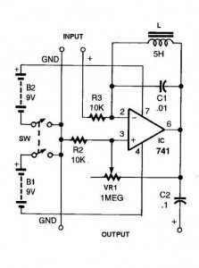 741 IC For Simple Ham Radio Circuit Diagram  The Circuit