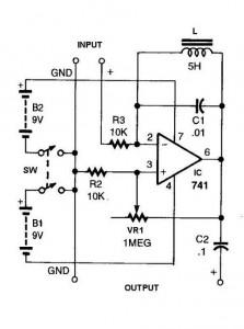 741 ic for simple ham radio circuit diagram
