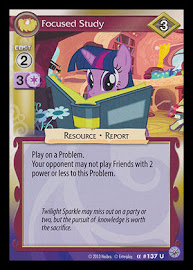 My Little Pony Focused Study Premiere CCG Card