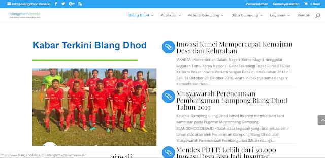 blangdhod.desa.id - website resmi gampong blang dhod