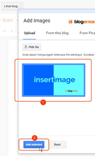 Cara Memberi Gambar pada Tulisan di Blog