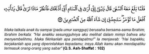 Q.S. Ash-Shaffat 102