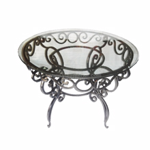 Wrought Iron Glass Console Table in Port Harcourt, Nigeria