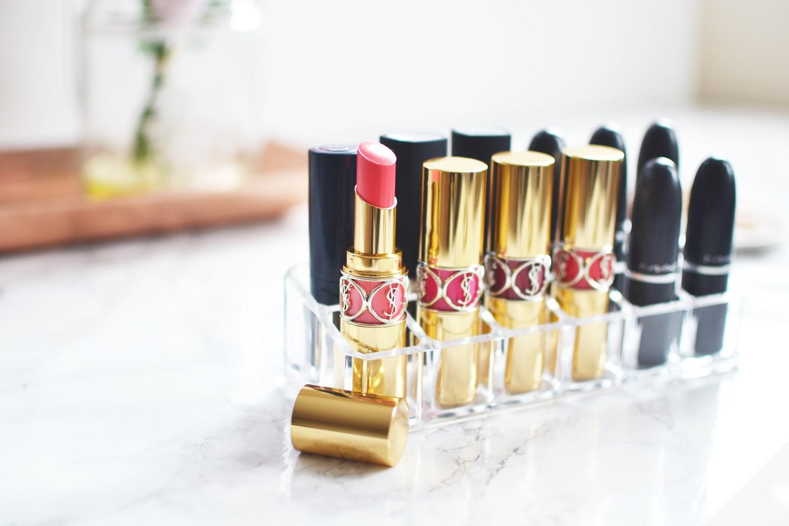 perspex lipstick storage