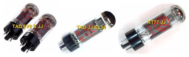 Válvulas de Potencia EL34, 6V6 y KT77