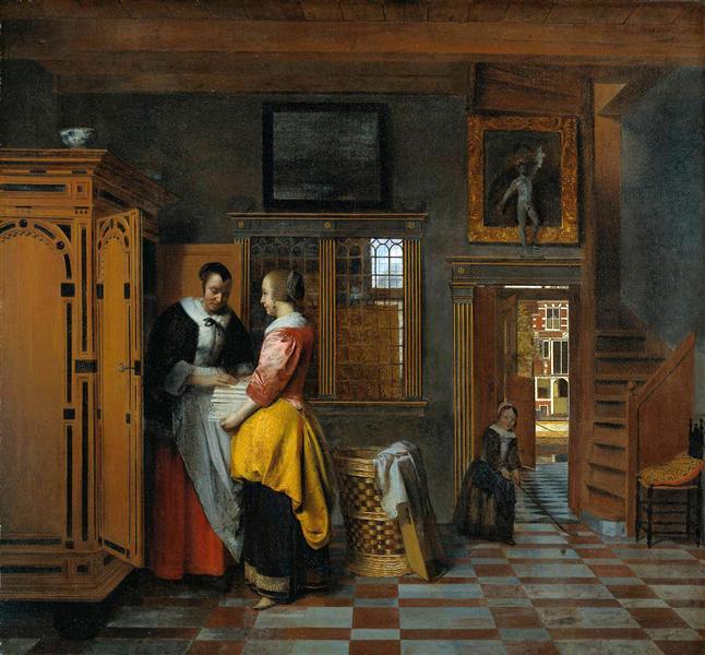 Pieter de Hooch У бельевого шкафа