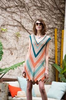 wzór sukienki szydełkiem na lato
