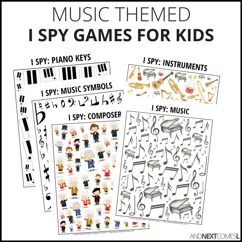 Music I Spy Bundle Pack And Next Comes L