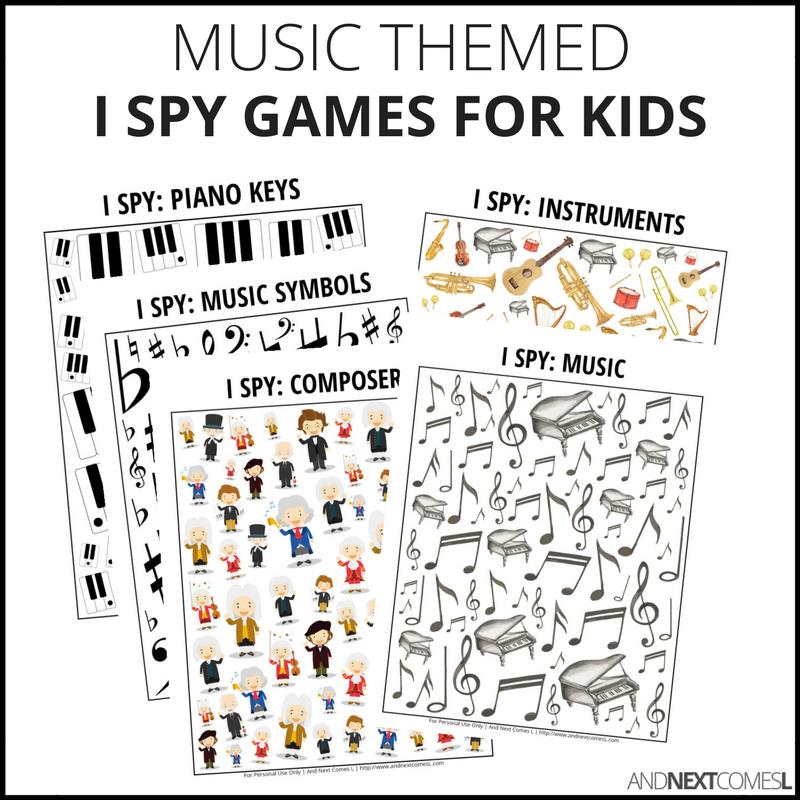0b41c3aa5c MUSIC I SPY BUNDLE PACK · Printable I spy games for kids