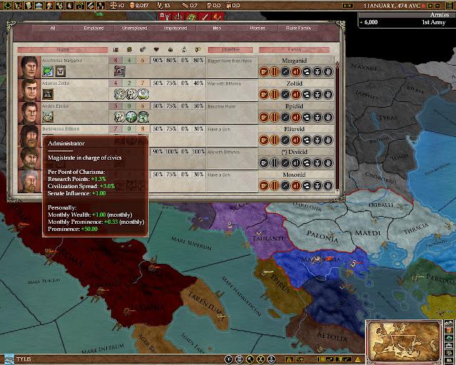 Characters screenshot | Europa Universalis: Rome