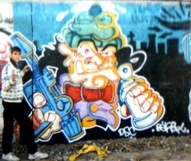 Graffiti character old school