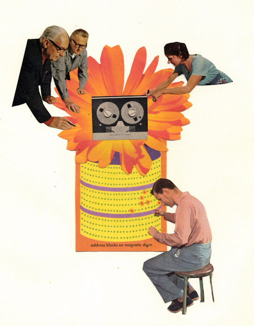 hand cut collage for Los Dias Contados