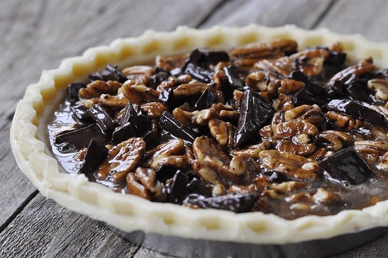 #Salted #Caramel #Dark #Chocolate #Pecan #Pie