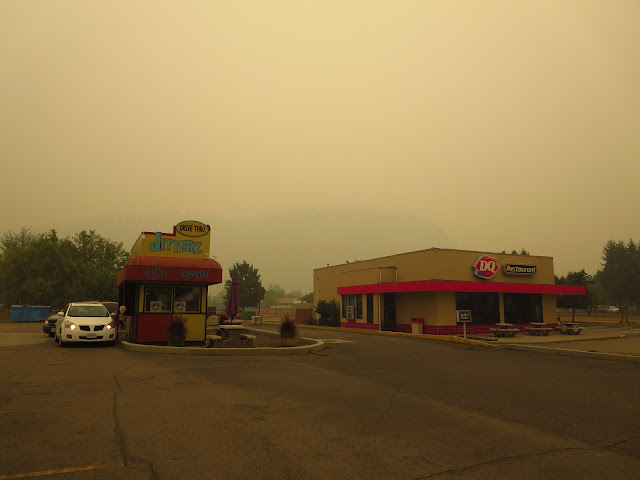Forest Fire Smoke in Grand Forks BC